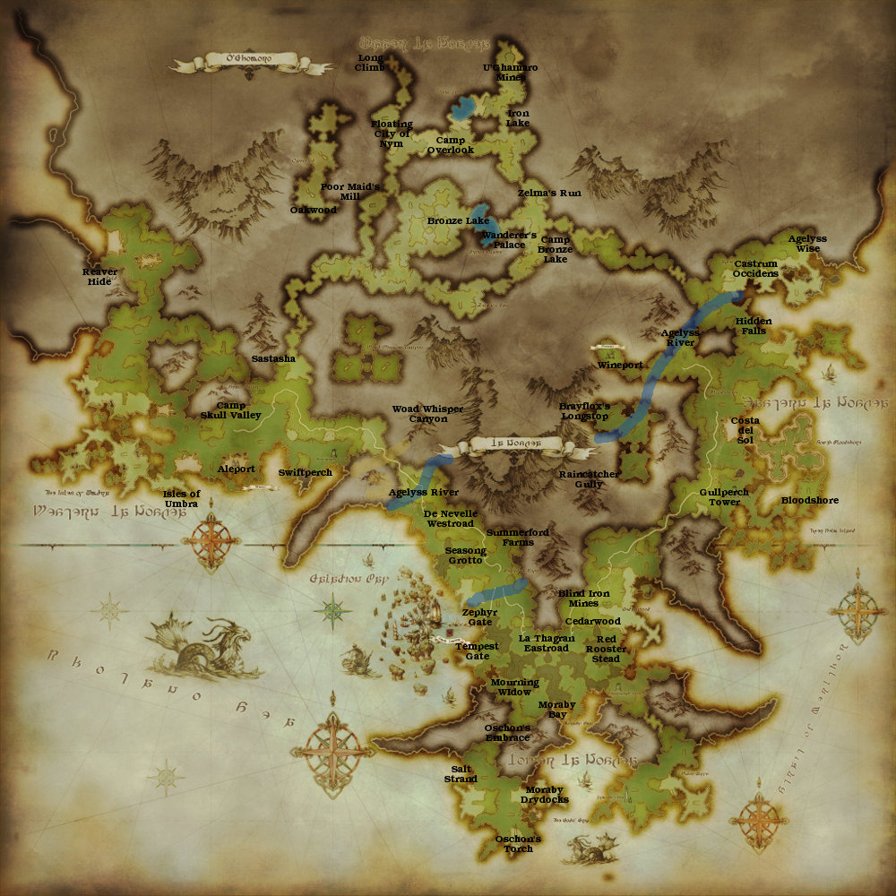 Final Fantasy XIV Map Comparison - Chrysalis